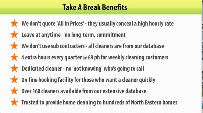 Domestic cleaners Gateshead